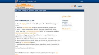 Register - Admin Portal Index > Home - UTEP.edu