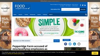 Pepperidge Farm hit with lawsuit over use of independent contractors