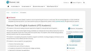 PTE Academic :: Pearson VUE
