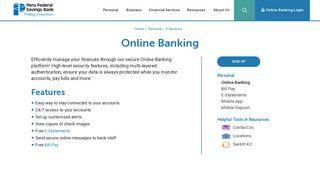 Online Banking | Peru Federal Savings Bank