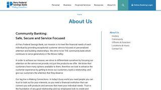 About Us | Peru Federal Savings Bank