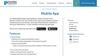Mobile App | Peru Federal Savings Bank
