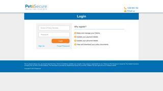 Login - Customer Service Portal - PetSure