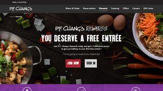 P.F. Chang's Rewards Program | P.F. Chang's