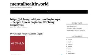 https://pfchangs.ultipro.com/Login.aspx - People Xpress Login for PF ...