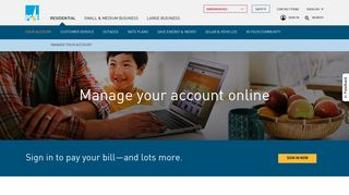 Manage your PG&E account