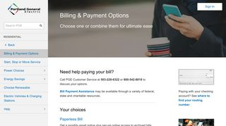 Billing & Payment Options - Residential | PGE
