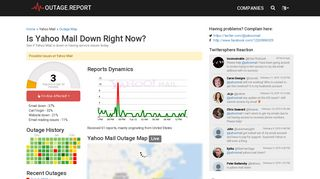 Yahoo Mail Down? Service Status, Map, Problems History - Outage ...