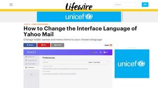 Change the Interface Language of Yahoo Mail - Lifewire