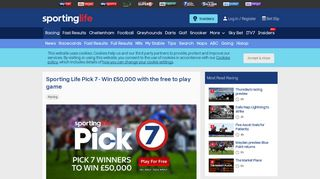 Sporting Life Pick 7 - Win £50,000 with the free to play game - Horse ...