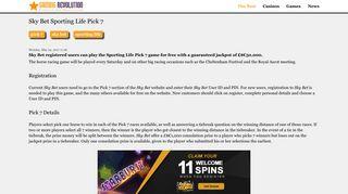Sky Bet Sporting Life Pick 7 - GamingRevolution