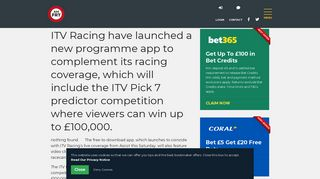 ITV Racing Pick 7 Competition | AM Free Racing Tips