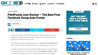 PilotPoster.com Review - The Best Free Facebook Group Auto Poster