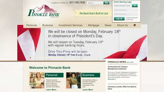 Pinnacle Bank - Locally Owned, Community Bank Since 1934