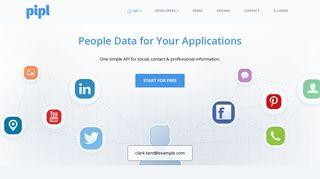 Pipl API - People Data API