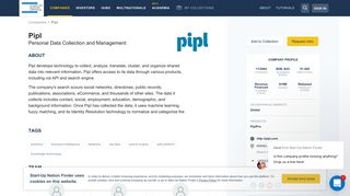 Pipl Personal Data Collection and Management Revenue Financed ...