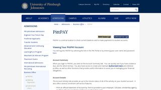 PittPAY - UPJ - University of Pittsburgh