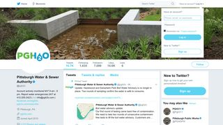 Pittsburgh Water & Sewer Authority (@pgh2o) | Twitter