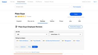 Working at Pizza Guys: 72 Reviews | Indeed.com