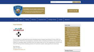 PlanIt Schedule - California Police Chiefs Association