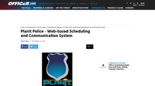 PlanIt Police Online Scheduling System | Produced and Distributed by ...