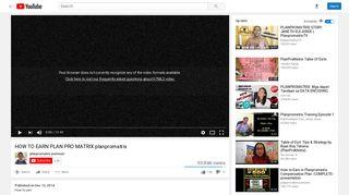 HOW TO EARN PLAN PRO MATRIX planpromatrix - YouTube