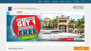 Play EuroMillions Online   EuroMillions Tickets and Results