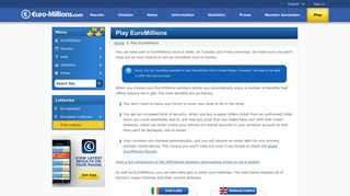 Play EuroMillions - Choose Your Numbers Online