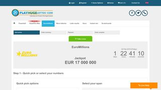 Euro Millions Lottery Online - PlayHugeLottos.com
