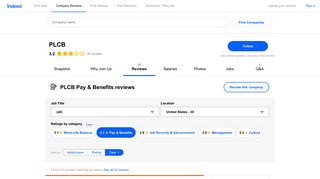 Working at PLCB: Employee Reviews about Pay & Benefits | Indeed.com