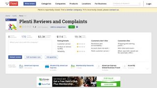 170 Plenti Reviews and Complaints @ Pissed Consumer