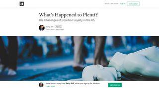What's Happened to Plenti? – Barry Kirk – Medium