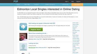 Edmonton Online dating chat, Edmonton match, Edmonton ... - POF.com