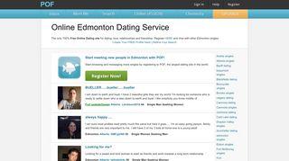 Free Edmonton online dating - POF.com