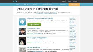 Edmonton relationships with hot Edmonton singles - POF.com