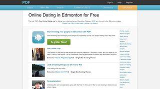 meet Edmonton women - POF.com