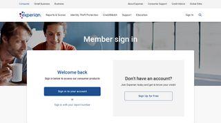 Member Login at Experian.com
