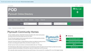 Plymouth Community Homes | Plymouth Online Directory
