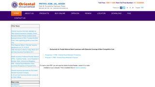 PNB - Oriental Royal Mediclaim Policy - OICL - Oriental Insurance