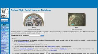 [ELGIN] Pocket Watch Serial Numbers: Date, Grade, Jewels