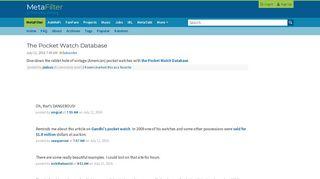 The Pocket Watch Database | MetaFilter
