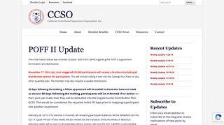 POFF II Update | CCSO