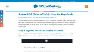 Square POS (Point of Sale) - Step by Step Guide - Fit Small Business