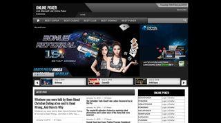 Home - Online PokerOnline Poker   Link Alternatif Link Online Poker ...