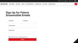 Sign Up   Polaris Snowmobiles