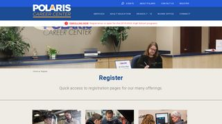Register for Career Training Programs   Polaris Career Center