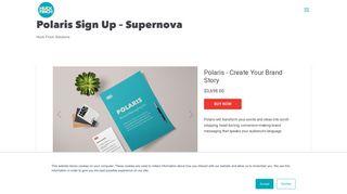 Polaris Sign Up - Supernova   Huck Finch Branding