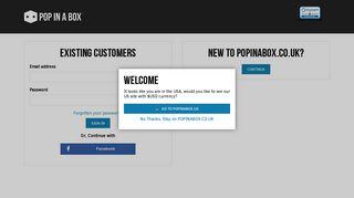 Account Login | Pop In A Box UK