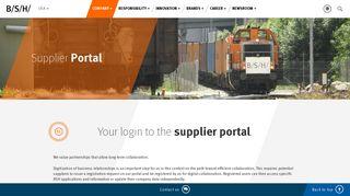 Cooperation Platform | BSH Home Appliances Corporation