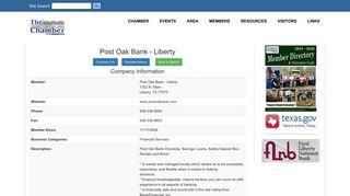 Post Oak Bank - Liberty - Liberty Dayton Chamber of Commerce